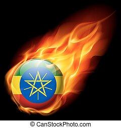 Round glossy icon of Ethiopia