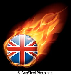 Round glossy icon of Great Britain