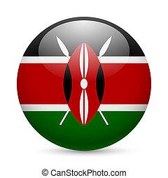 Round glossy icon of Kenya
