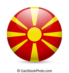 Round glossy icon of Macedonia - Flag of Macedonia as round...
