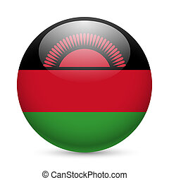 Round glossy icon of Malawi - Flag of Malawi as round glossy...