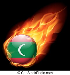 Round glossy icon of Maldives