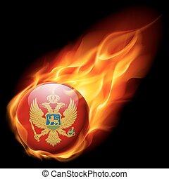 Round glossy icon of Montenegro - Flag of Montenegro as...