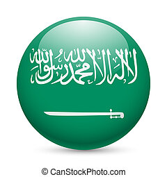 Round glossy icon of Saudi Arabia