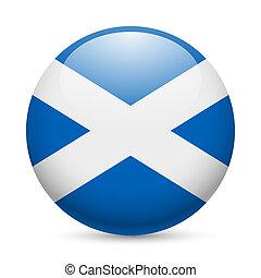 Round glossy icon of Scotland