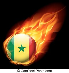 Round glossy icon of Senegal