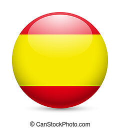 Round glossy icon of Spain - Flag of Spain as round glossy...