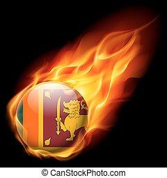 Round glossy icon of Sri Lanka