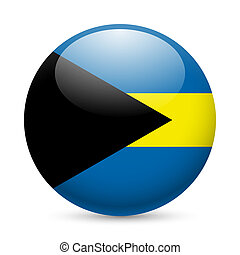 Round glossy icon of the Bahamas