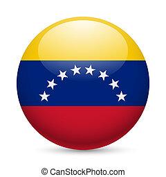 Round glossy icon of Venezuela - Flag of Venezuela as round...