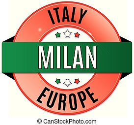 round glossy milan badge