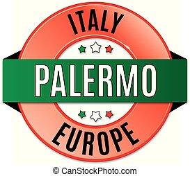 round glossy palermo badge
