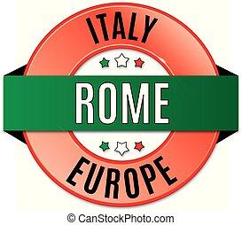 round glossy rome badge