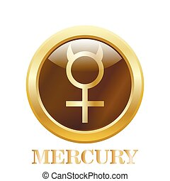 Mercury. Vector illustration.