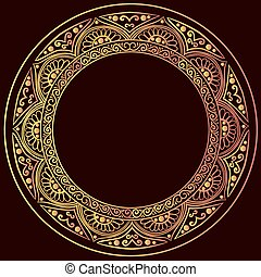 round gold frame