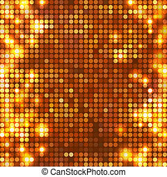 Gold vector background mosaic with light spots at left and right side