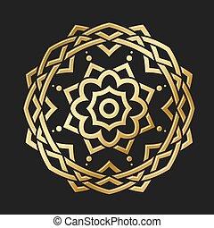 Round Gold Ornament