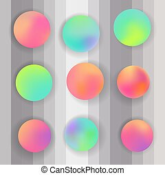 Round gradient set. modern abstract backgrounds.