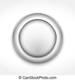 Round Gray Button