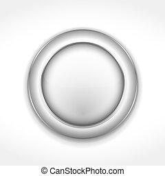 Round Gray Button