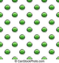 Round green button pattern