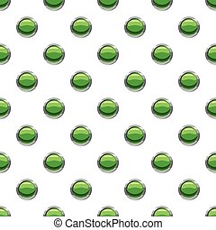 Round green button pattern