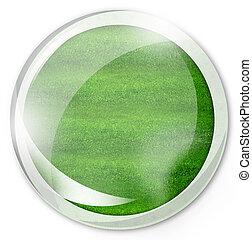 round green button