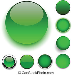 Round green icons.