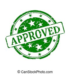 Round green stamp - approved