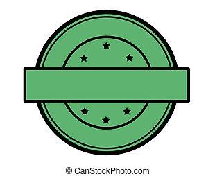 Round green stamp