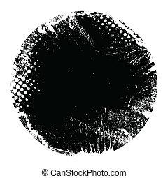 Round Grunge Circle Banner Shape