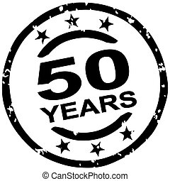 grunge stamp for 50 years jubilee
