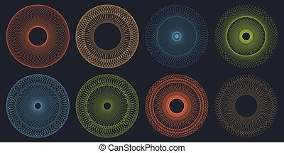 Round Guilloche Pattern Set