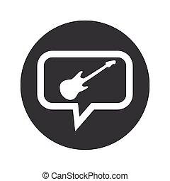 Round guitar dialog icon