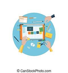 Round Icon Design Website a Constructor