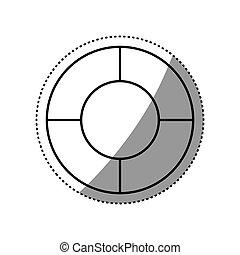 Round icon isolated