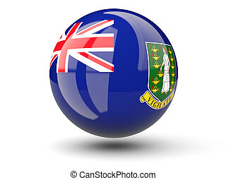Round icon of flag of british virgin islands