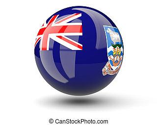Round icon of flag of falkland islands