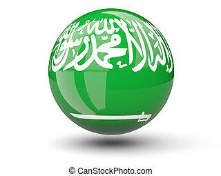 Round icon of flag of saudi arabia