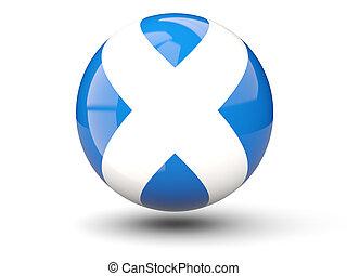 Round icon of flag of scotland