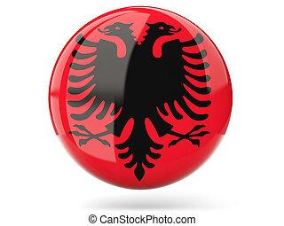 Round icon with flag of albania