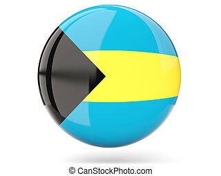 Round icon with flag of bahamas