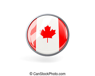 Round icon with flag of canada