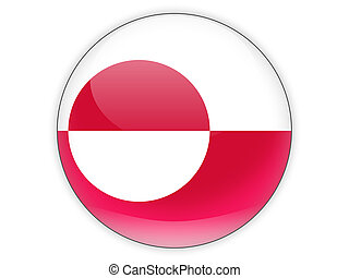 Round icon with flag of greenland