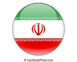 Round icon with flag of iran