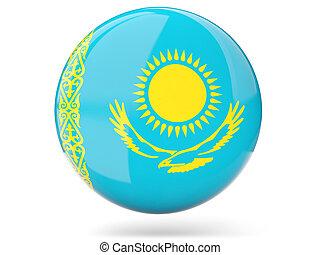 Round icon with flag of kazakhstan