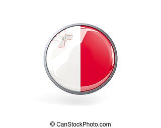 Round icon with flag of malta