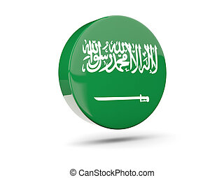 Round icon with flag of saudi arabia