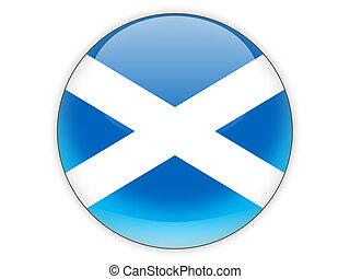 Round icon with flag of scotland