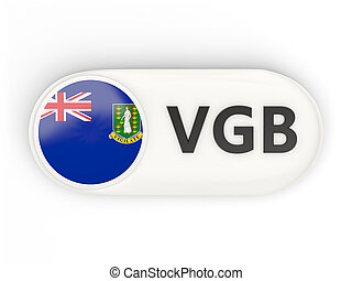 Round icon with flag of virgin islands british and ISO code